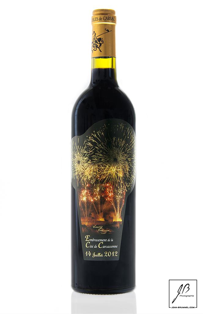 Etiquette de vin : 14 Juillet 2012 Carcassonne