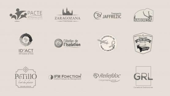 réalisations et refontes de logos ou bloc marques