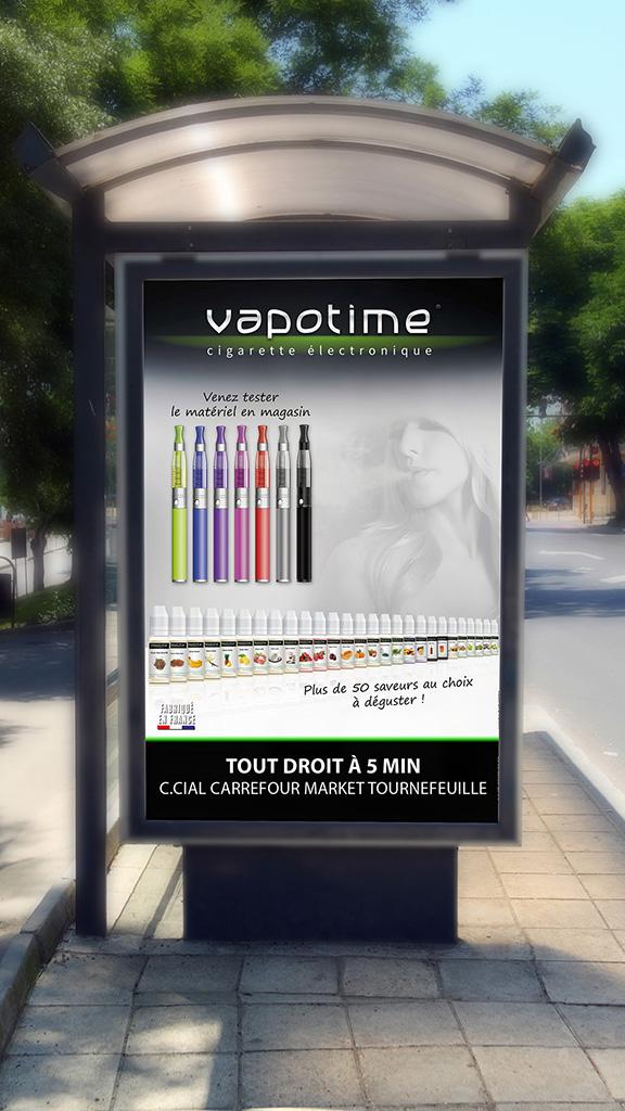Affiche abribus Vapotime