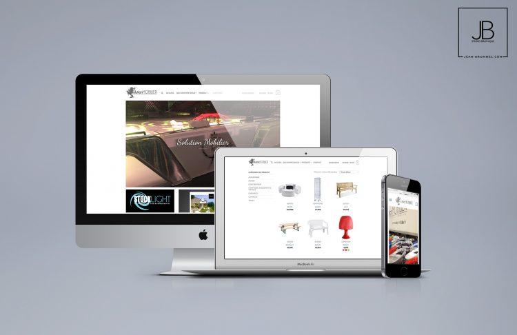 Site Internet de location de mobilier – Solution Mobilier